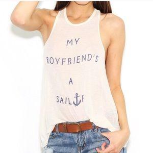 Wildfox My Boyfriend's A Sailor Island Tank M